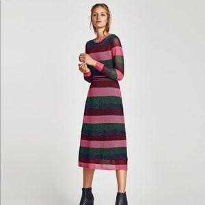 Zara Striped Openwork Dress